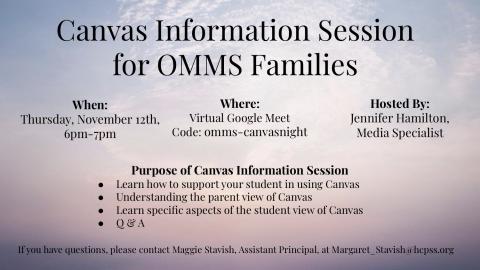Virtual Parent Information Night 11/12